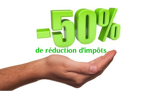 50 de reduction d impots